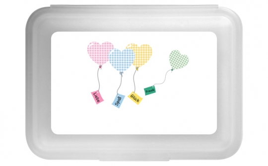 Luftballons Flache Brotdose pink