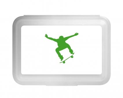 Skateboard Flache Brotdose grün