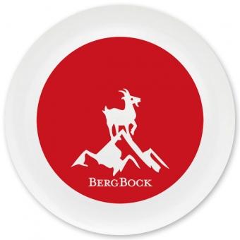 Bergbock Grill-/ Pizzateller dunkelrot