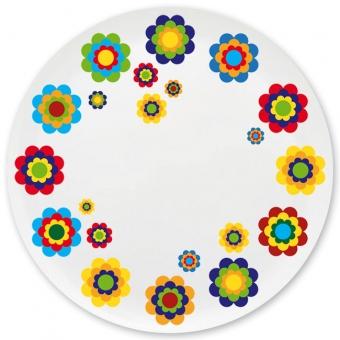 Blumenmädchen Grill-/ Pizzateller dunkelblau