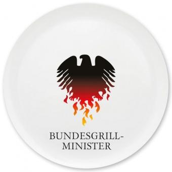 Bundesgrillminister Grill-/ Pizzateller bunt