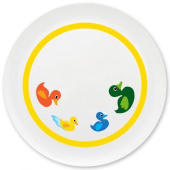 Entenfamilie Grill-/ Pizzateller gelb