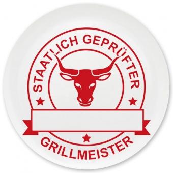 Grillmeister Grill-/ Pizzateller dunkelrot