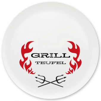 Grillteufel Grill-/ Pizzateller dunkelrot