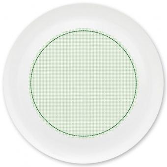 Kleinkariert Jungen Grill-/ Pizzateller grün