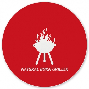 Natural Born Griller Grill-/ Pizzateller dunkelrot