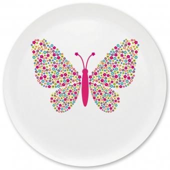 Schmetterling Grill-/ Pizzateller bunt