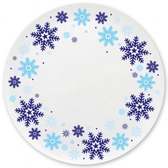 Winterzauber Grill-/ Pizzateller blau