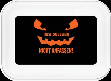 Halloween Kürbis Brotdose groß mit Namen (schwarz) schwarz