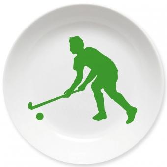 Kinderteller Hockey Spieler grün