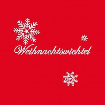 Kinderschürze Weihnachtswichtel rot