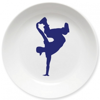Breakdance Kleiner Teller (dunkelblau)
