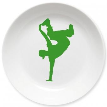 Breakdance Kleiner Teller (grün)