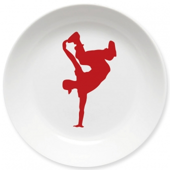 Breakdance Kleiner Teller (rot)