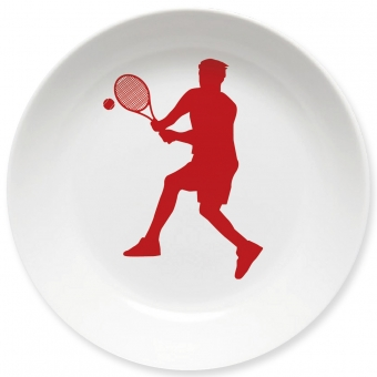 Kinderteller Tennis Spieler dunkelrot