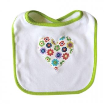 Baby Lätzchen Blumenherz bunt