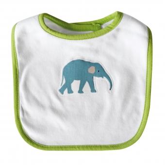 Baby Lätzchen Elefant hellgrün