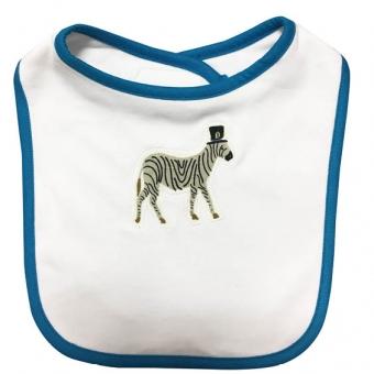 Baby Lätzchen Zebra blau