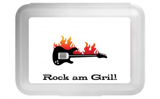 Rock am Grill Flache Brotdose bunt