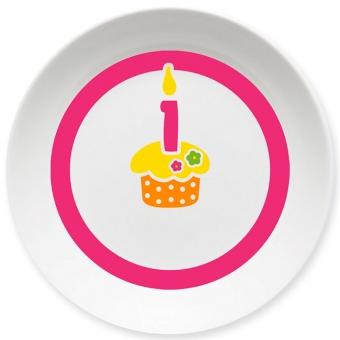 Geburtstag Schale pink