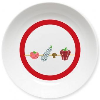 Gemüse-Spießerin Schale dunkelrot