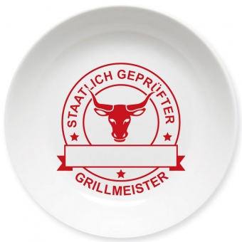 Grillmeister Schale dunkelrot