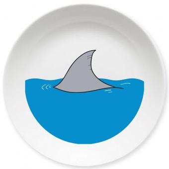 Haiflosse Schale blau