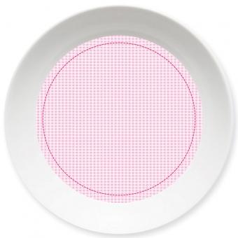 Kleinkariert Mädchen Schale rosa