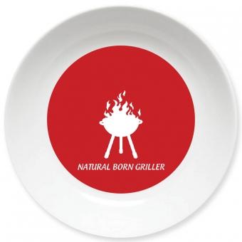 Natural Born Griller Schale dunkelrot
