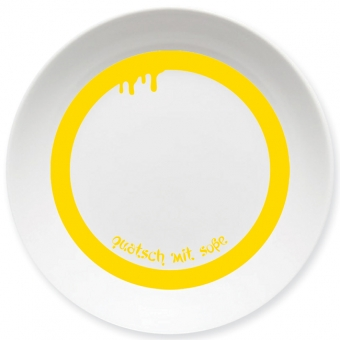 Quatsch mit Soße Schale gelb