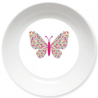 Schmetterling Schale bunt