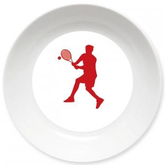 Tennis Spieler Schale dunkelrot