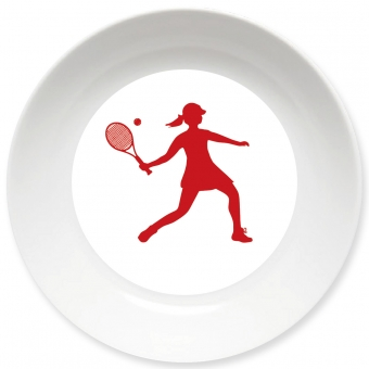 Tennis Spielerin Schale dunkelrot