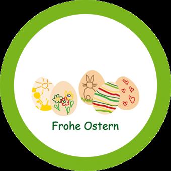 Ostermalerei Schale hellgrün