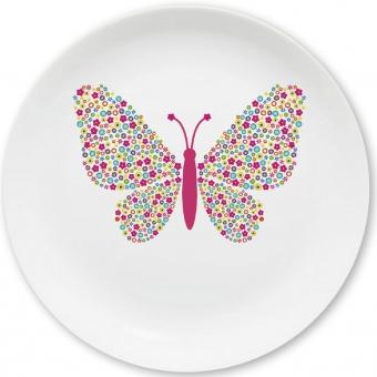 Kinderteller Schmetterling bunt