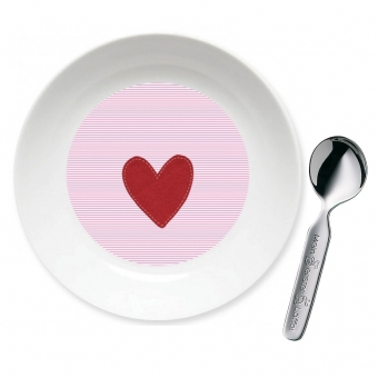 Herz Mädchen Geschenk Set zur Taufe rosa