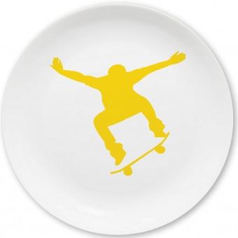 Skateboard Kleiner Teller gelb