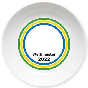 Weltmeister Kleiner Teller gelb