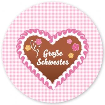 Große Schwester Großer Teller rosa