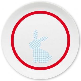 Häschen Großer Teller (rot)