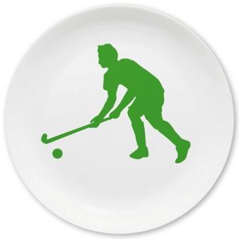 Hockey Spieler Großer Teller grün