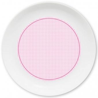 Kleinkariert Mädchen Großer Teller rosa