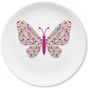 Schmetterling Großer Teller bunt