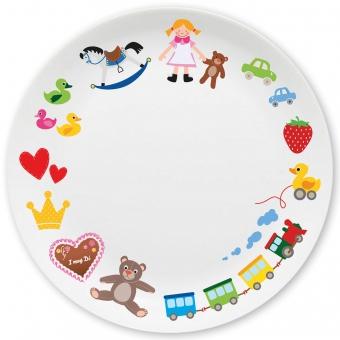 Spielzeug Mädchen Großer Teller bunt