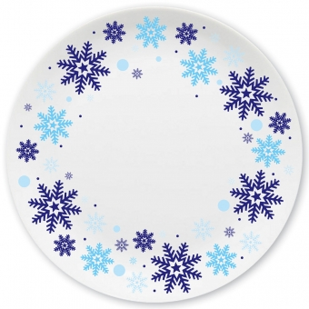 Winterzauber Großer Teller blau