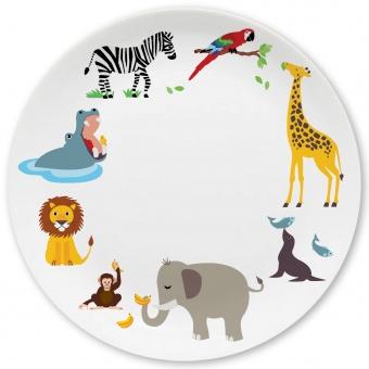 Zoo Großer Teller bunt
