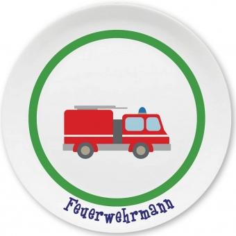 Feuerwehr Kleiner Teller (grün)