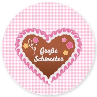 Große Schwester Kleiner Teller rosa