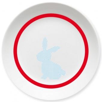 Häschen Kleiner Teller (rot)