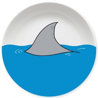 Haiflosse Kleiner Teller blau
